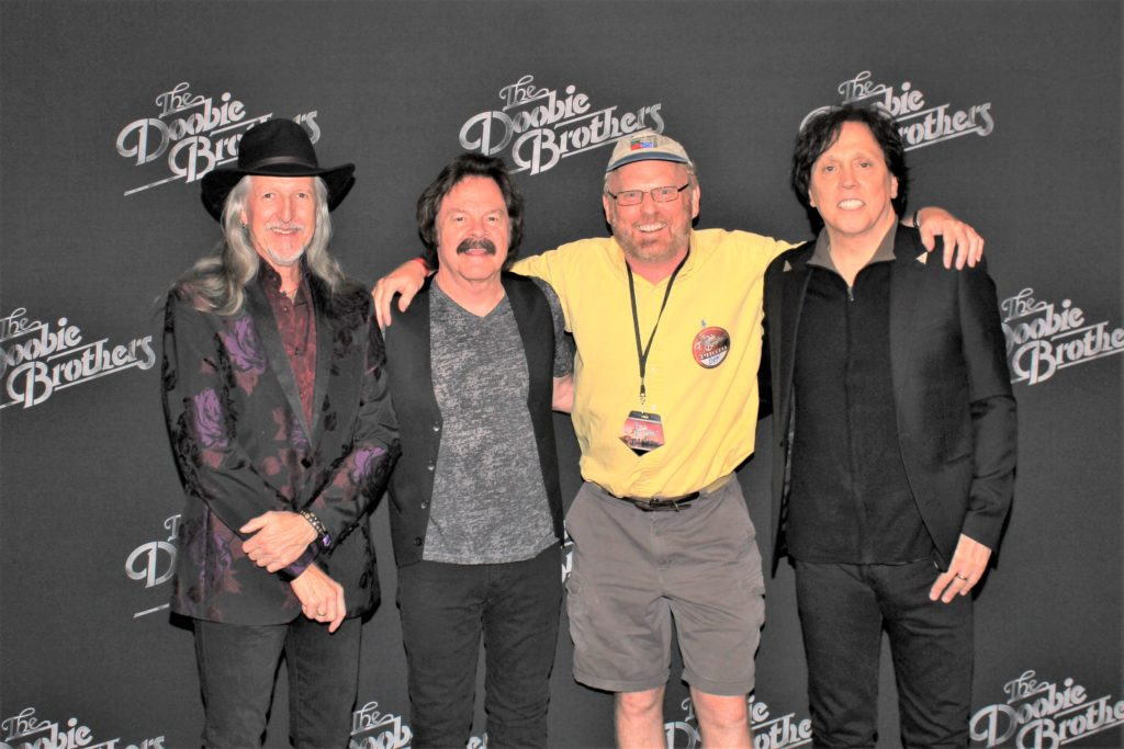 Peter Jones interviewed three Doobie Brothers.